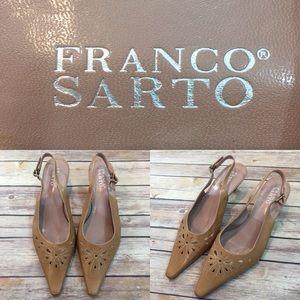 Size 8.5M Franco Sarto Pointed Toe Slingback Heels